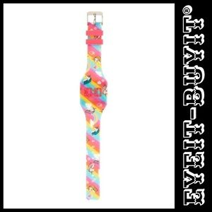 Claire's Rainbow Print LED Watch